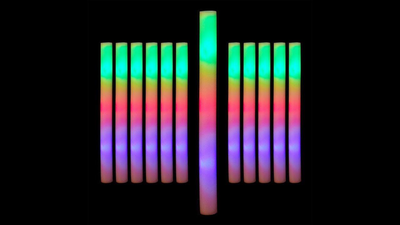 Video von: Leuchtstab LED 12er Set