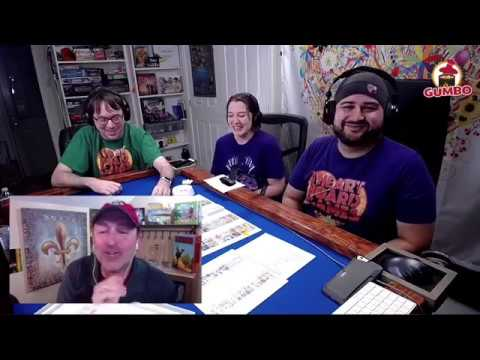 Gumbo Live! with I Heart Board Games talking Nyctophobia