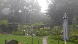 Gartenblick - Unwetter über Mainz