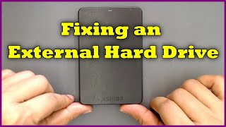 Fixing a Toshiba External Hard Drive for Data Recovery