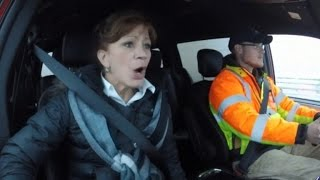 Terrified Driver Faces One of America's Scariest Bridges During a Snowstorm