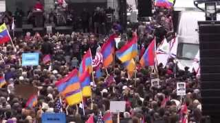 March for Justice Armenian Genocide Speech at Turkish Consulate (April 24, 2015, Los Angeles)