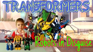 Трансформеры Роботы под прикрытием / Обзор трансформеров // Арсений показывает игрушки