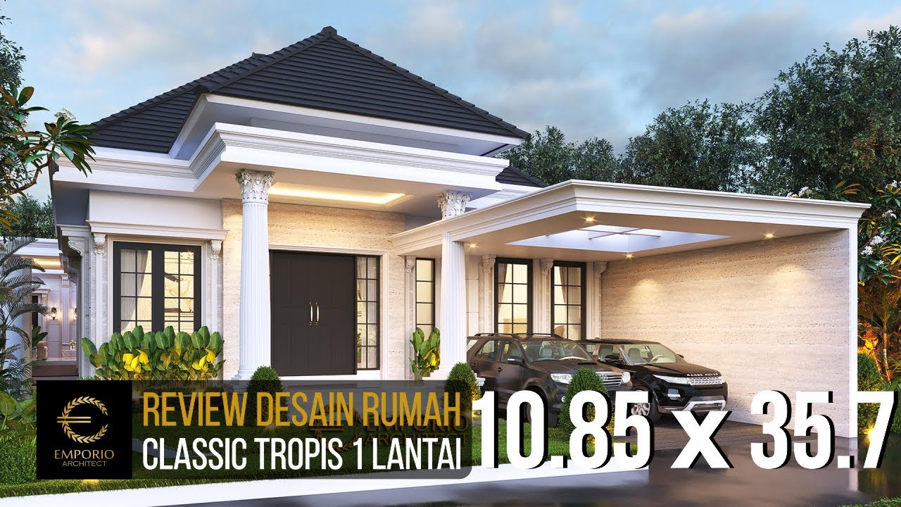 Video 3D Desain Rumah Classic 1 Lantai Bapak Wandaniel - Sumatera Utara