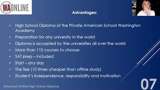 Вебір від 12.12.2020 - American Online High School Diploma