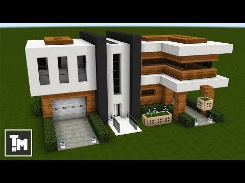 minecraft how to build a modern house mansion easy episode 7