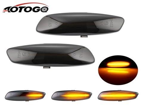 2pcs Dynamic smoke LED Side Marker signal Light For Peugeot 207 308