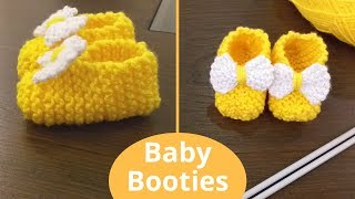 Baby Booties, Slippers For Newborn Super Easy To Make In Urdu By Clydknits.