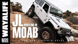JEEP JL WRANGLER Off Road in MOAB : Gold Bar Rim & Golden Spike Trail - PART 1