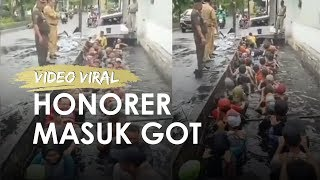 Viral Video Pegawai Honorer Masuk Got, Lurah dan Jajaran Diperiksa BKD DKI