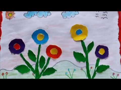 Xé dán vườn hoa - Giáo viên: Nguyễn Thị Thu Hiền
