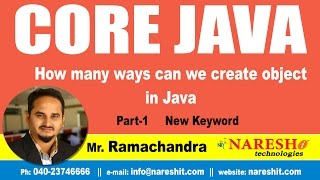 How many ways can we create object in Java Part 1 new keyword | Core Java Tutorial