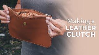 Making A Leather Clutch Purse [ Week 38/52 ]