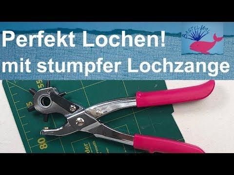 Perfekt gestanzte Löcher - trotz stumpfer Lochzange.