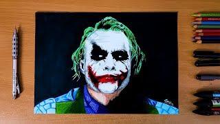 The Dark Knight : The Joker ( Heath Ledger ) - Speed drawing