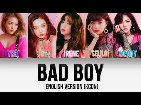 Red Velvet (레드벨벳) - Bad Boy English Version (Studio/Edited) [Color Coded Lyrics]
