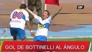 Tiro libre de Darío Bottinelli a Miguel Pinto