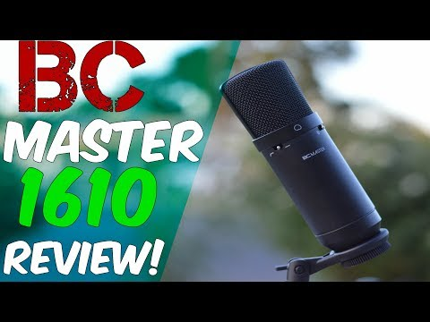 BC Master 1610 USB Condenser Microphone Review! (Best Microphone Under $50)