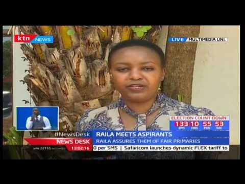 Newsdesk Full Bulletin: Raila Odinga meets women aspirants - 27/3/2017 [Part 1]