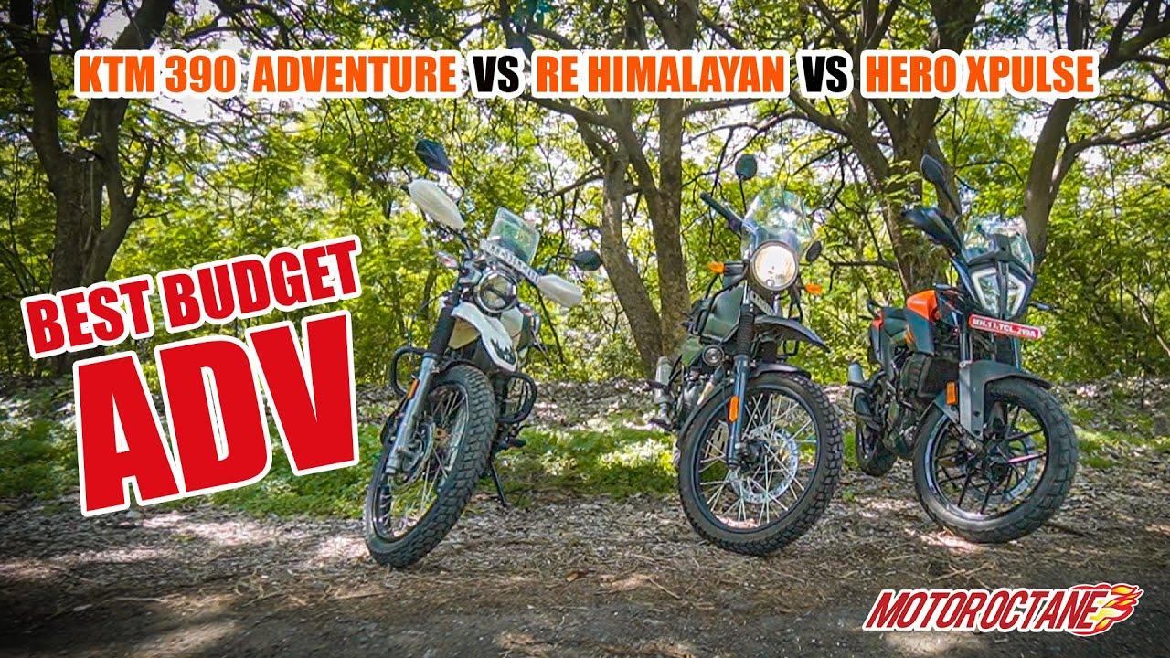 Motoroctane Youtube Video - RE Himalayan vs KTM 390 Adventure vs XPulse 200 | Hindi | MotorOctane
