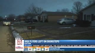 KKK Flyers Distributed in Eaton Neighborhood on%