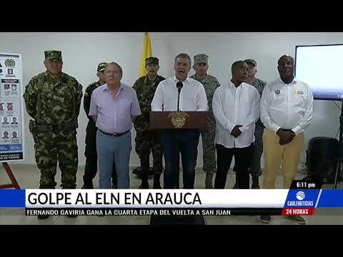 Capturan nueve integrantes del Eln en Arauca