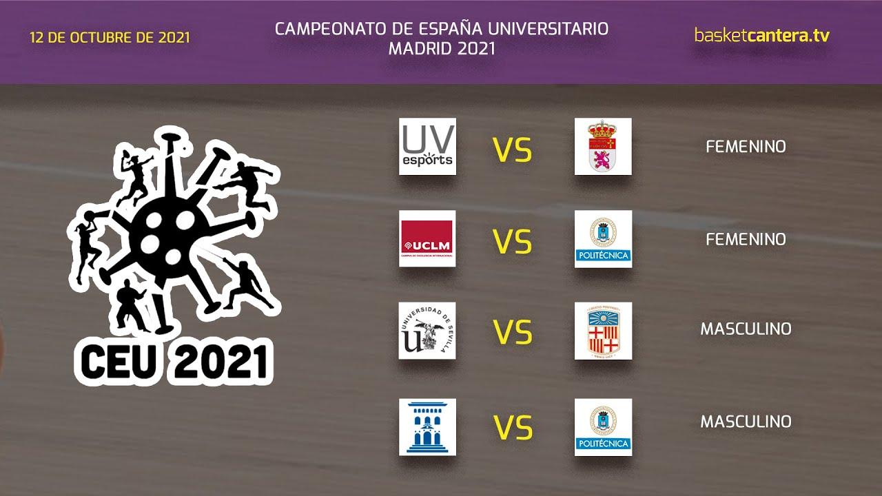 Campeonato España Baloncesto Universitario. VÍDEO 3 - Partidos Sede UPM - Día 1 (tarde)