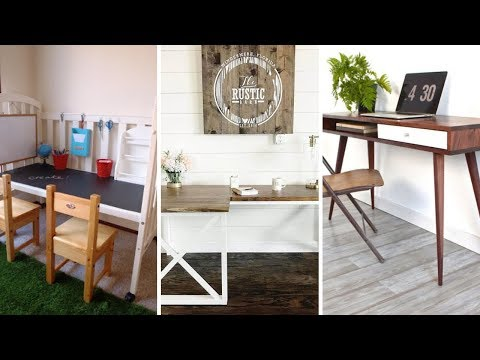 10 DIY Desk and Table project Ideas for A Home Office