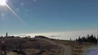 preview picture of video 'Schwarzwald Hornisgrinde, höchster Berg in Nordschwarzwald, im Herbst am 20.11.2012'
