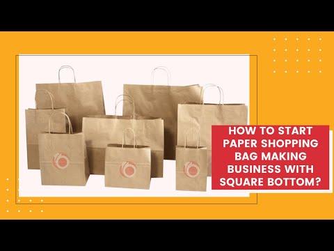 Fully Automatic Shopping Bag Making Machine Square Bottom