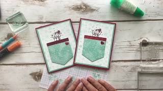 Snowman Card with Gift Card Pocket Inside