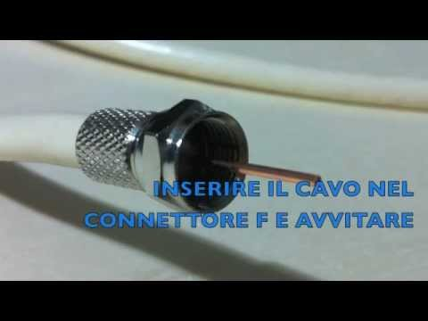 Realizzare un cavo tv con connettori Satellitari