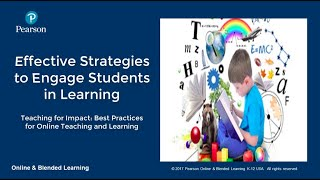Effective strategies to engage students in learning
