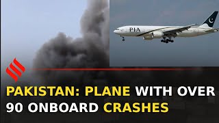 Pakistan: PIA flight with over 100 on-board crashes in Karachi - Download this Video in MP3, M4A, WEBM, MP4, 3GP