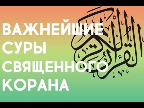 Сура Аль-Фатиха, аль-Ихлас, аль-Фалак, ан-Нас , аят аль-Курси и дуа
