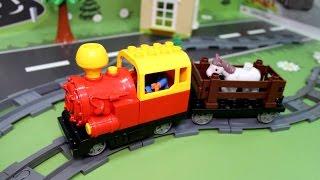 Мультик про паровозики и поезда. Приключение на железной дороге.