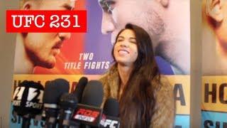 CLAUDIA GADELHA UFC 231 PRE-FIGHT MEDIA SCRUM