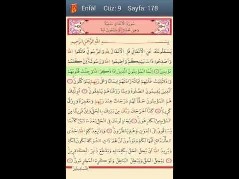 Video of Quran with Easy Readable Font