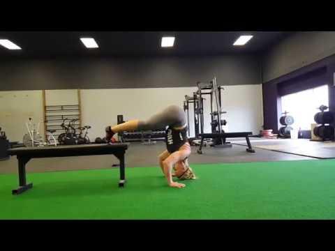 Handstand Push Ups: Feet on Box