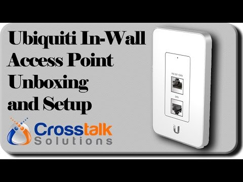 Ubiquiti In-Wall Access Point Unboxing and Setup