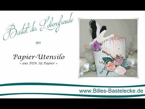 Tolles Papier Utensilo aus DIN A5 Papier