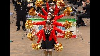 広島県警察音楽隊カラーガードDONTSTOPMENOW昼のコンサートin福山広島県20180311