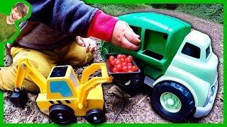 Garbage Trucks For Children Picking Berries!