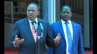 Uhuru meets Raila at Harambee House - VIDEO
