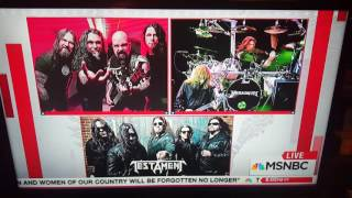 Rachel Maddow segues frm Slayer to Trump - American Carnage!