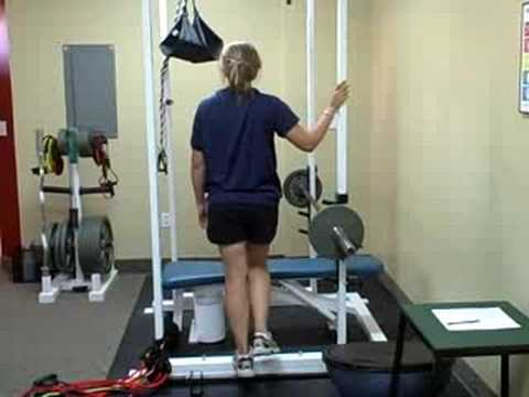Bodyweight Calf Raises on One Leg