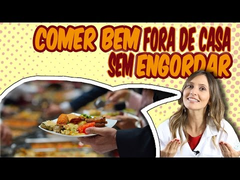 Imagem ilustrativa do vídeo: Dicas para COMER BEM FORA DE CASA (e não engordar!)
