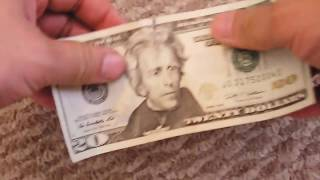 How to fix a ripped $20 bill - best way Scotch Tape Matte Finish
