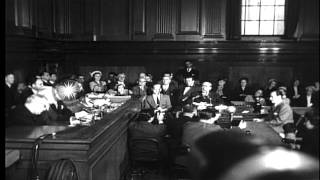 """Frank Costello testifying before the Kefauver Committee and giving the famous """"Pa...HD Stock Footage"""