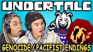 PACIFIST & GENOCIDE ENDINGS! | UNDERTALE   Part 9 (React: Let's Plays)